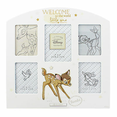 Disney Magical Beginnings BAMBI Baby Collage Photo Frame New Parents Gift DI285