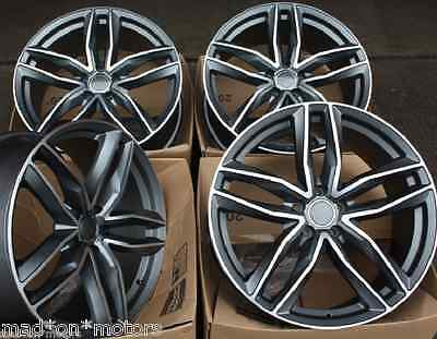 "19"" Rs6 Style Alloy Wheels Fits Vw Caddy Cc Eos Golf Passat Scirocco Touran T4"