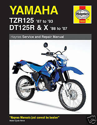 Yamaha TZR125 DT125 DT125X Haynes Manuale Officina 1655 NUOVO
