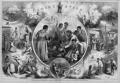 Emancipation Of The Negroes By Thomas Nast 1863 Public Slave Auction Of Negro