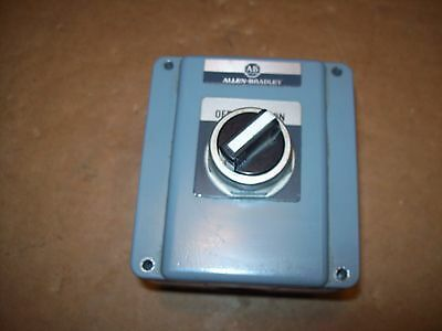 Allen Bradley Ab Cat# 800T-1Tz Switch Enclosure With On/off Sw W/contacts P284A