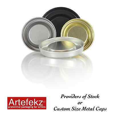 """76mm 3"""" Diameter Metal End Caps Bungs Plugs Stoppers for Tubes Cylinders Rolls"""