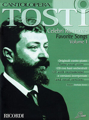 Tosti Favorite Songs Vol 1 Cantolopera Vocal Piano Opera Sheet Music Book CD NEW