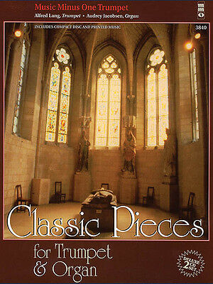 Classic Pieces for Trumpet & Organ Sheet Music Minus One Play-Along Book CD NEW