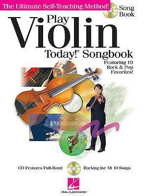 Play Violin Today! Songbook Sheet Music 10 Pop Rock Songs Play-Along Book CD NEW