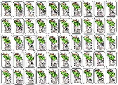 "50 Oscar The Grouch Go Away! Envelope Seals / Labels / Stickers, 1"" by 1.5"""
