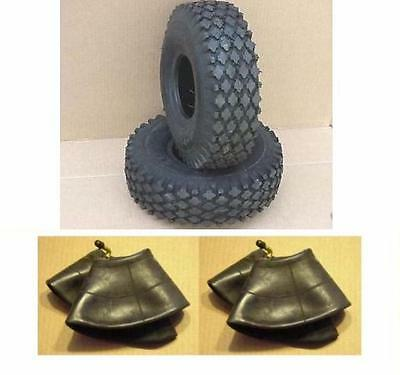 2 New Tires 410/350-6 & 2 New Tubes For Go Kart Go Cart Parts Minibike