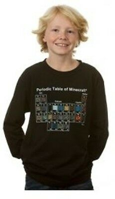 Minecraft Periodic Table Long Sleeve Youth Tee L Brand New