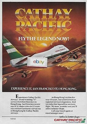 Cathay Pacific Airways Boeing 747 Fly The Legend Hong Kong To San Francisco Ad