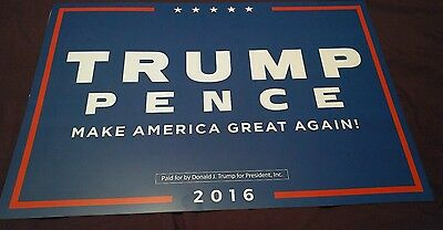 Donald Trump Mike Pence  POSTER PLACARD RALLY SIGN 2016 PRESIDENT ELECT