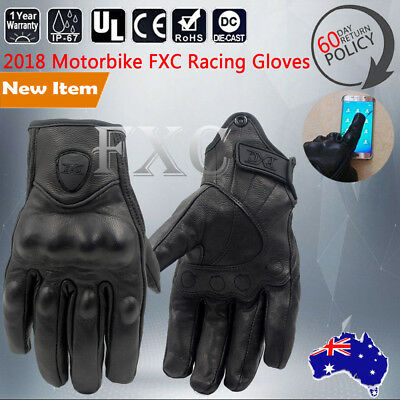 Motorcycle Bicycle Riding Racing Bike Game Protective Armor Short Leather Gloves