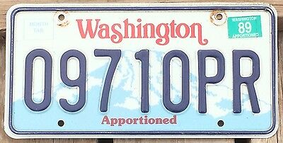 Washington 1988 - 1989 APPORTIONED TRUCK License Plate!