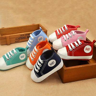 Baby Boys Girls Soft Sole Crib Shoes Infant Toddler Sneakers Newborn to 12Months