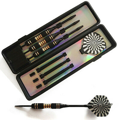 3Pcs/1Set Professional Tungsten Steel Tip Darts Set With Dart Flights&Case 22g