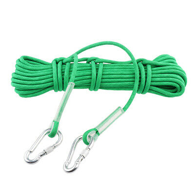 20M 12KN Climbing Rope Accessory Cord Safety Rescue Escape Sling 9.5mm Carabiner