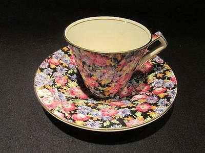 Majestic Royal Winton Vintage Cup & Saucer Beautiful Chintz $150 Price Sticker