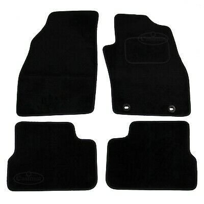 Fiat Grande Punto 2006 onwards Tailored Carpet Car Mats Black 4pc Floor Set