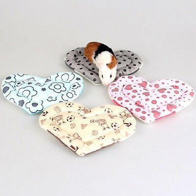 Heart Small Animal Hamster Mat Soft Plush Warm Guinea Pig Rabbit Cage Mat Pad