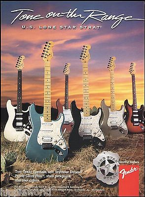 The Fender U.S. Lone Star Stratocaster Series Texas Special guitars 8 x 11 ad