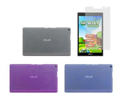 TPU Gel Skin Cover Case + Screen Protector for ASUS ZenPad 8.0 Z380M Tablet 2016