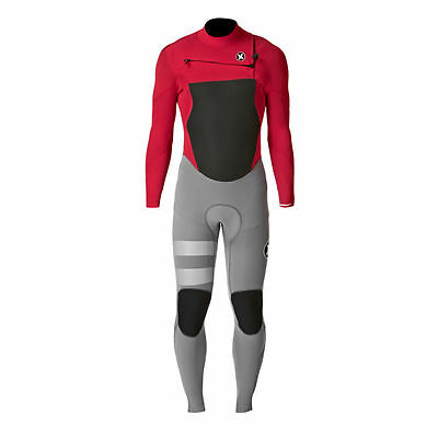 Hurley Wetsuits - Hurley Fusion 4/3mm Chest Zip Wetsuit - University Red