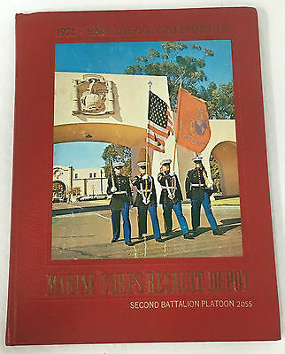 1971 US Marine Corps Recruit Depot San Diego Yearbook