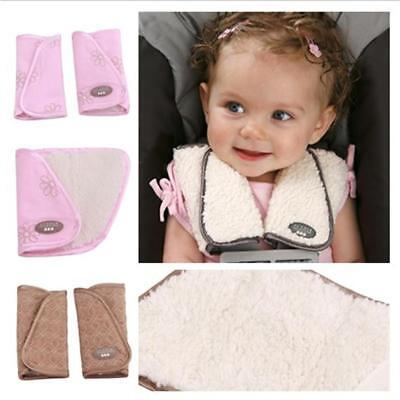 1Pair Baby Car Seat Belt Strap Cover Pads Highchair Stroller Shoulder Protector