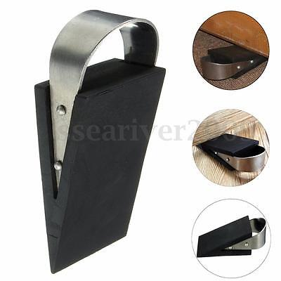 Rubber Stainless Steel Door Stop Stopper Block Wedge Safety Protector Home Decor