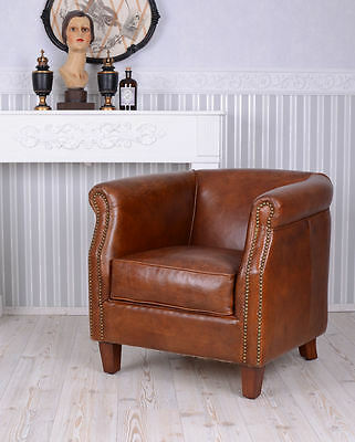 FRENCH CLUB Chair ART DECO Chair LEATHER CLASSIC COCKTAIL CHAIRS