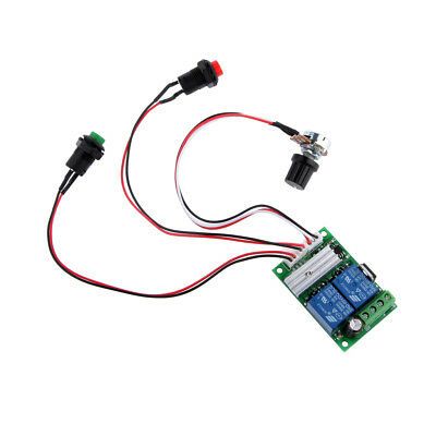 6-24V 3A DC Motor Speed Controller Speed Adjustable Reversible Button Switch