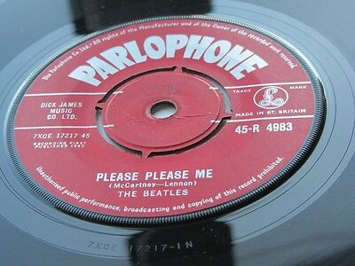 The Beatles Original 1963 Uk 45 Please Please Me  Red Label  Parlophone Label