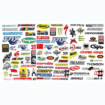 3 Sheet Bicycle Motocycle Decals Waterproof Mountain Bike Skateboard Stickers