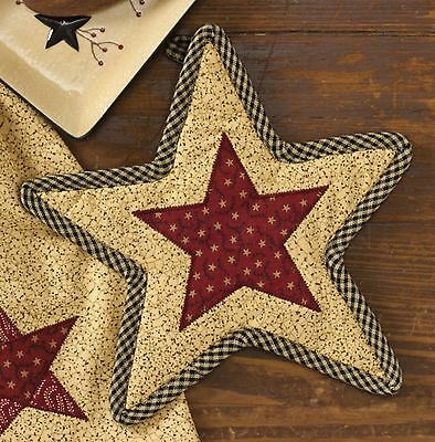 Farmhouse Patchwork Country Star Pot Mitt or Trivet by Park Designs, Quilted