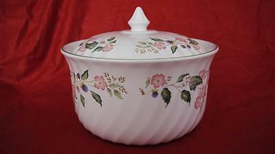 BRITISH HOME STORES BHS VICTORIAN ROSE LARGE 4.5pt CASSEROLE OVEN DISH V.G.COND