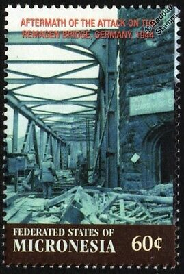 WWII 1944 US Soldiers at Ludendorff Bridge REMAGEN, Germany Stamp