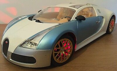 LARGE BUGATTI VEYRON RECHARGEABLE Radio Remote Control Car ENGINE SOUNDS - 1:12