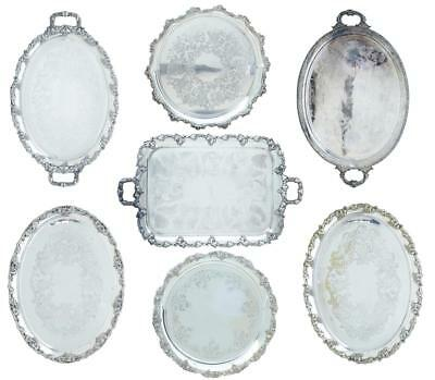 Collection Of 20Th Century Silver Plate Trays