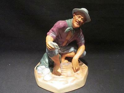 Beachcomber Vintage Royal Doulton & Co 1972 Bisque Style Figurine #HN2487