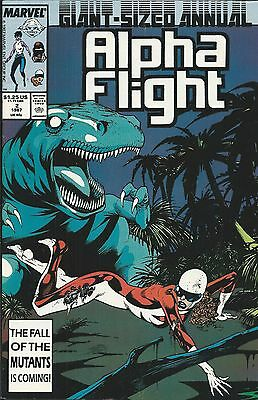 Alpha Flight Comic Issue 2 Annual Copper Age First Print Mantlo Brigman Mcleod