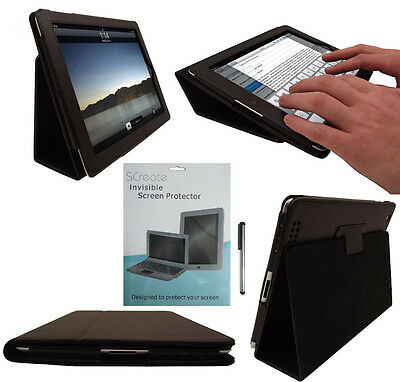 New Black Leather Flip Case Cover Typing Stand For Apple Ipad 2