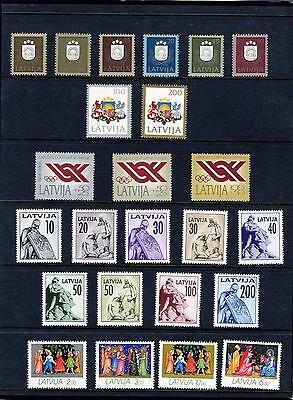 Latvia Year Folder 1991/93 Complete Mint Nh Stamps As Shown