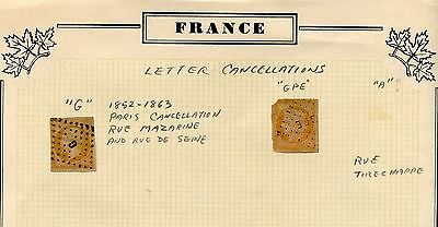 France Lot T Of Postal Stationery & Letter Cancellations