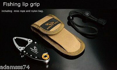 Mini Fishing Gripper Holder Portable High Quality Case & safety rope Grippers