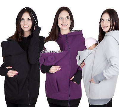 Mija/ Maternity Polar warm fleece Hoodie Pullover Babywearing BABY CARRIERS 4019