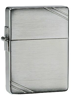 Zippo 1935 Replica Brushed Chrome Windproof Cigarette Lighter with Slashes New