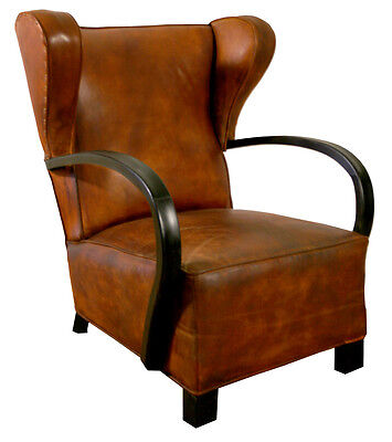 FRENCH ART DECO PAIR OF  CLUB CHAIR ROYERE  Wingback
