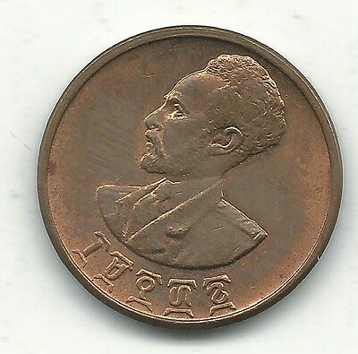 A Very Nice High Grade Au 1936 1944 Ethiopia Five Cents Coin-Aug561