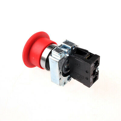 NEW 22mm NC Red Mushroom Emergency Stop Push Button Switch 600V 10A ZB2-BS542