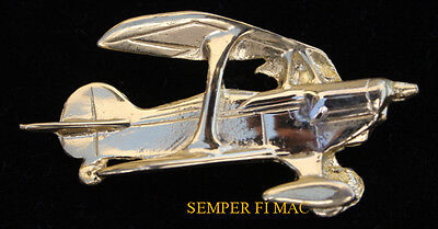 6PITTS SPECIAL GOLD HAT LAPEL PIN UP Light Aerobatic Biplane MADE IN THE USA WOW