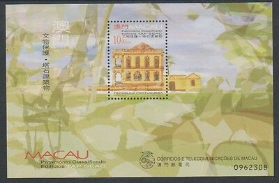 Macau - 1999 Buildings sheet - MNH - SG MS1121